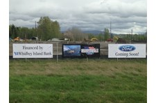 - Custom Banners - Vinyl Banners - Whidbey Island Bank & Ford Dealership - Marysville, WA